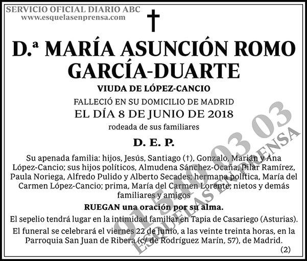 María Asunción Romo García-Duarte